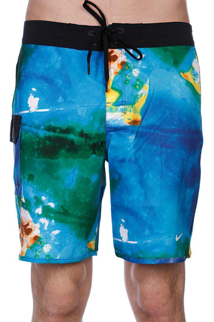 Разноцветные необычные пляжные мужские шорты