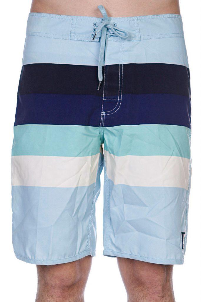 Полосатые пляжные мужские шорты