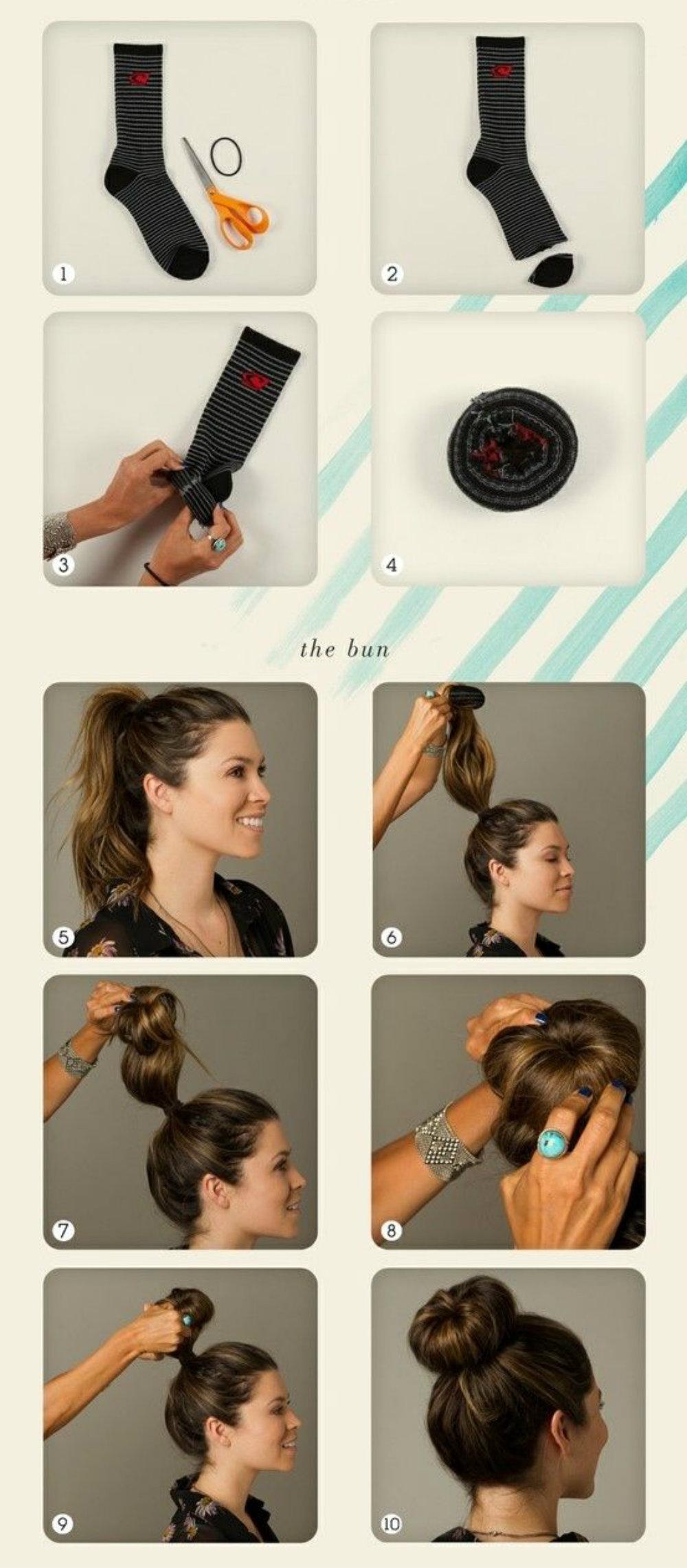 Как сделать своими руками бублик для волос 14