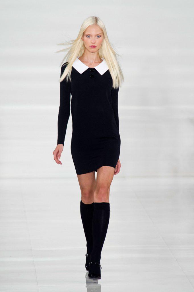 Черно-белое платье 40 годов