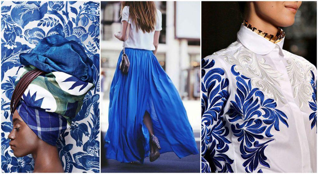 Белый и синий в одежде