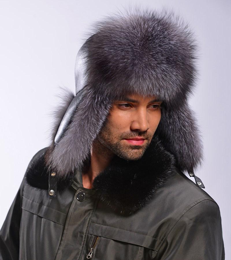Меховая мужская шапка махалай