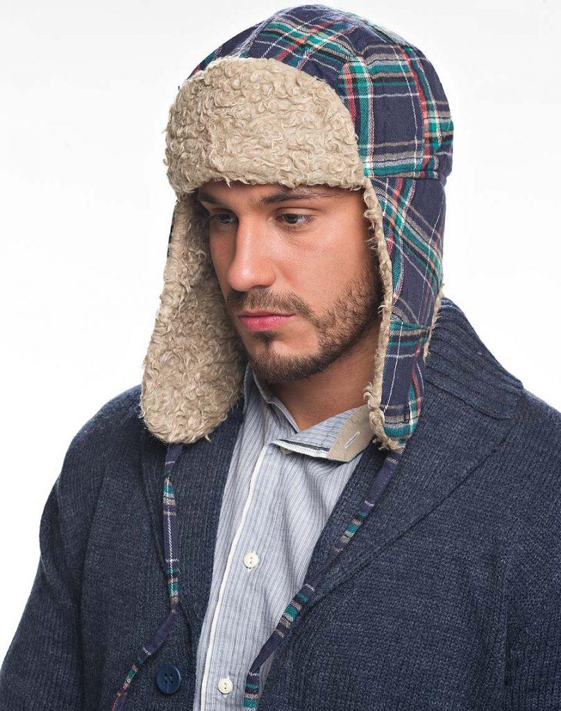 Мужская демисезонная шапка ушанка
