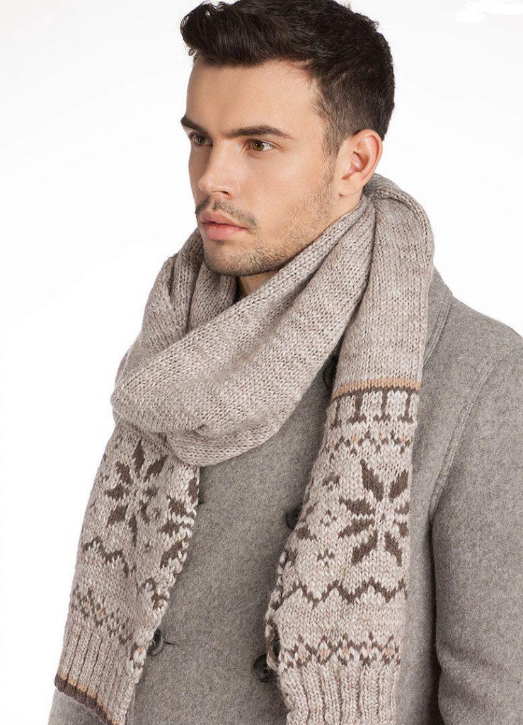 Бежевый мужской шарф