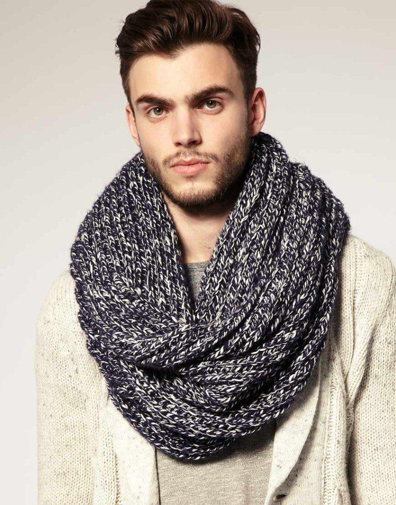 Мужской повседневный шарф-снуд