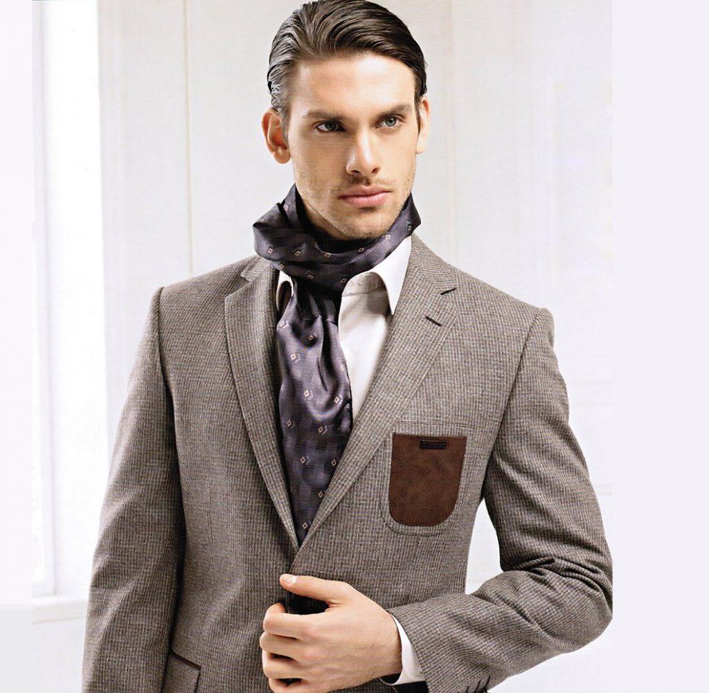Тканевый мужской деловой шарф