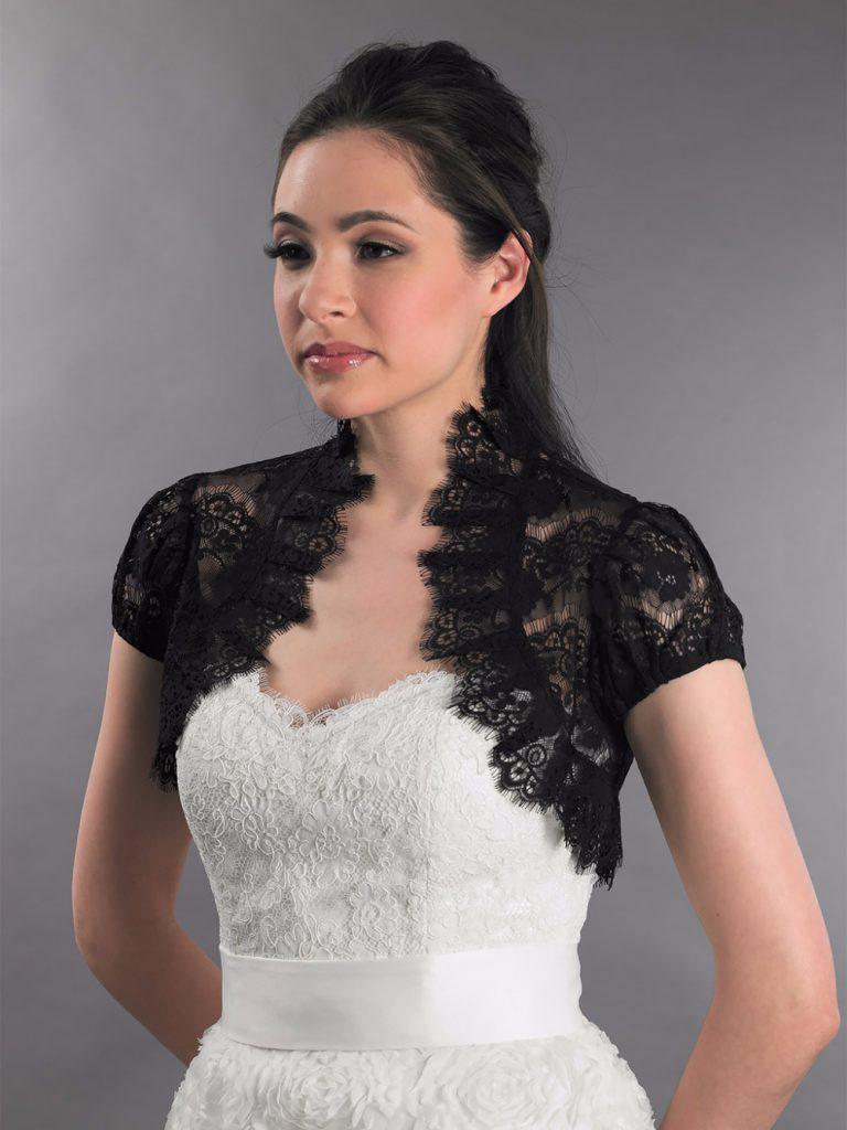Черное гипюровое болеро на свадьбу