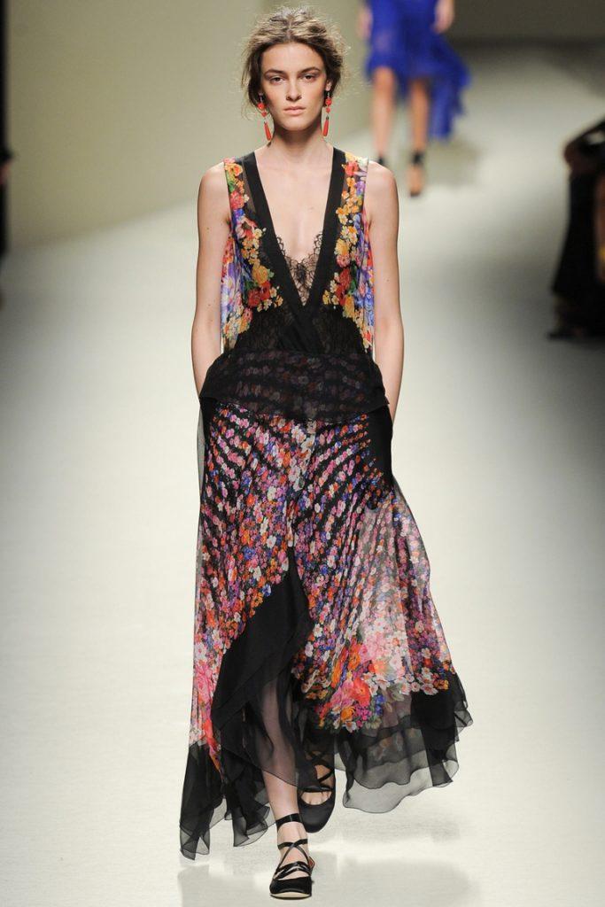 Легкое летнее цветочное платье