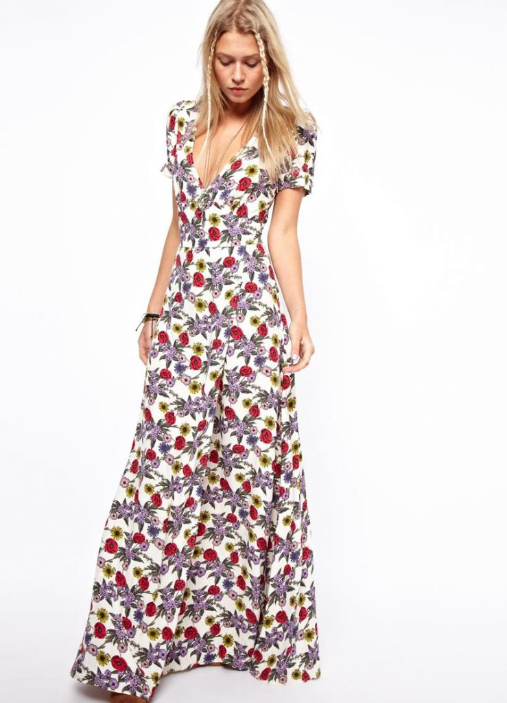 Вечернее цветочное платье