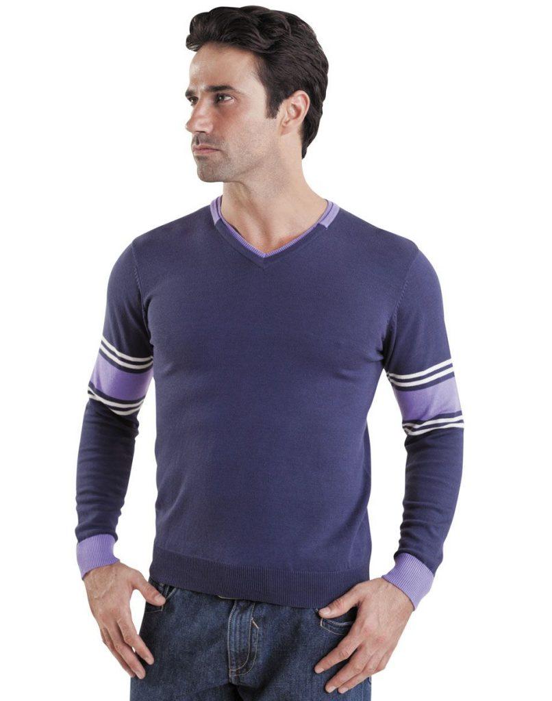 Фиолетовый мужской пуловер