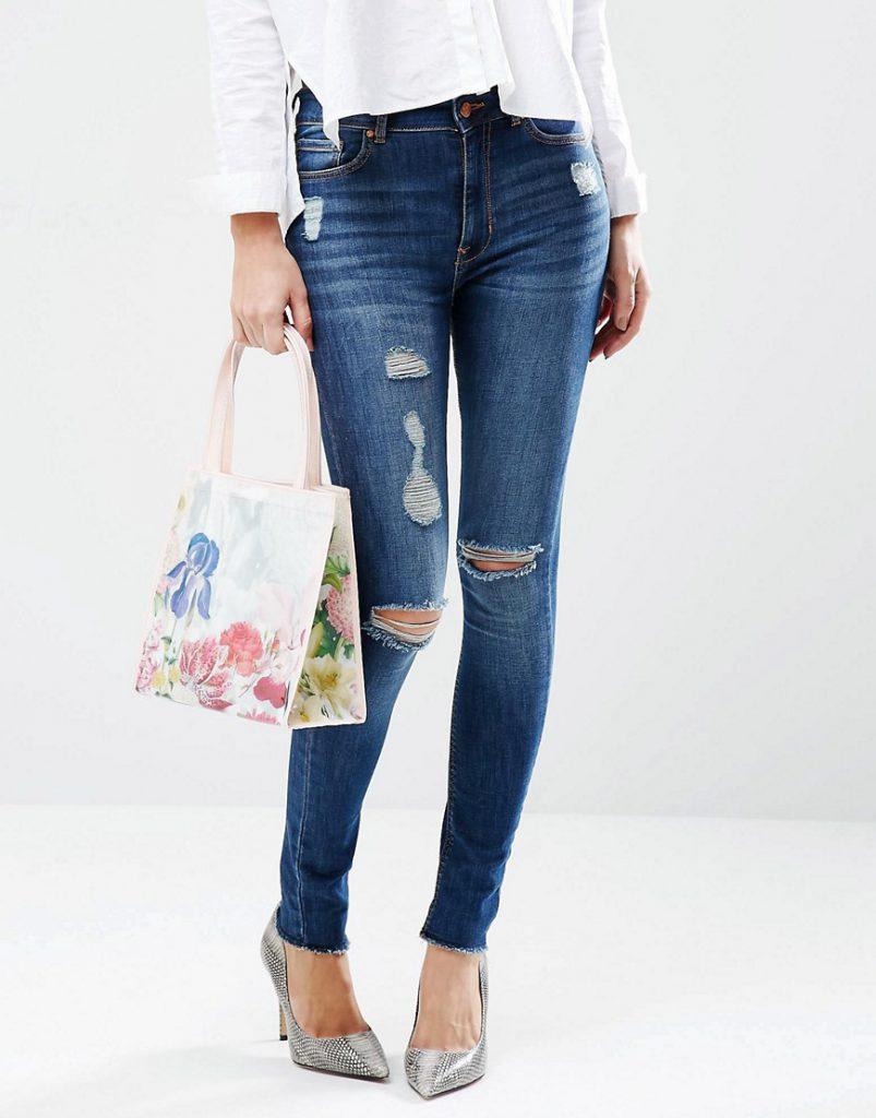 Городская сумка с цветочным принтом