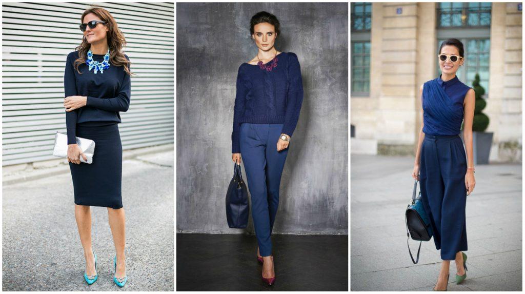 Синий цвет в деловой одежде