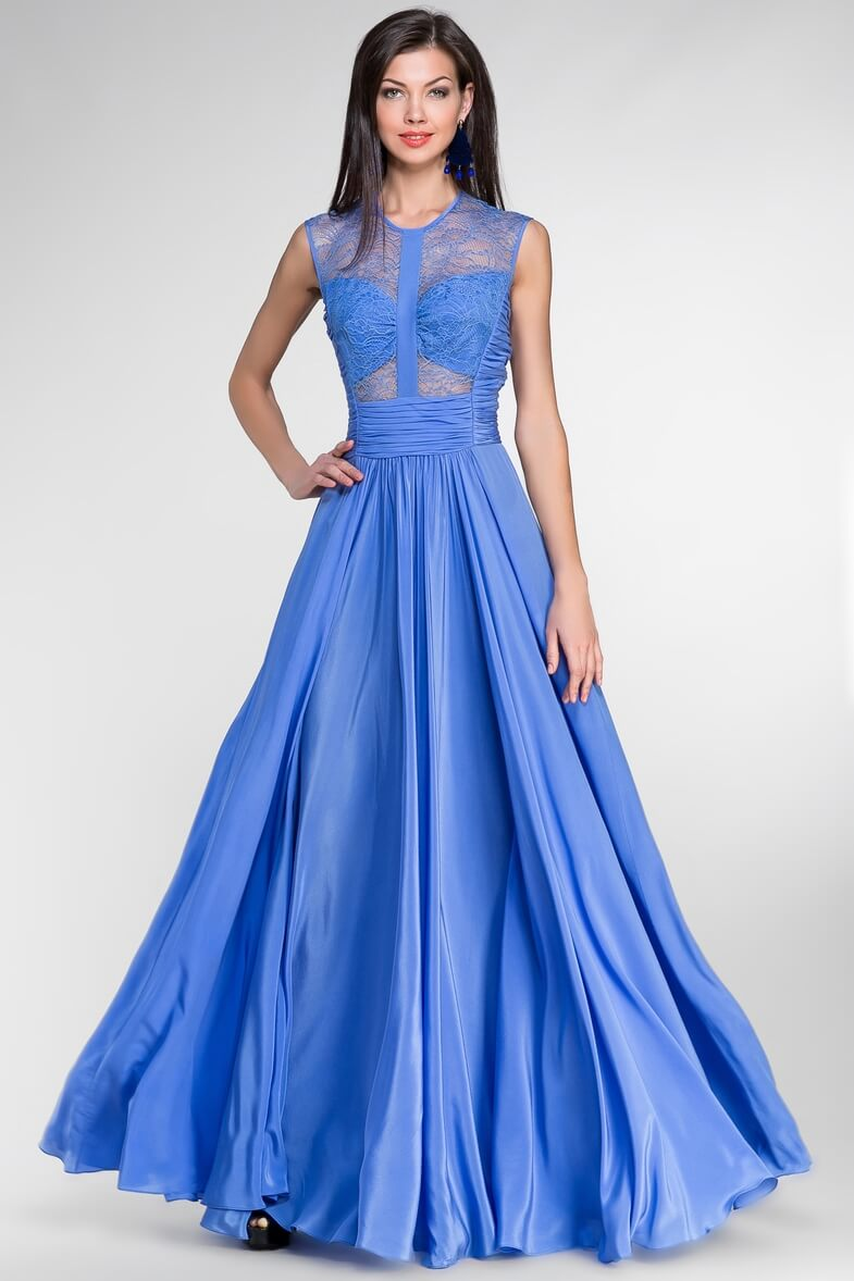 Голубое вечернее платье — воплощение небесной чистоты