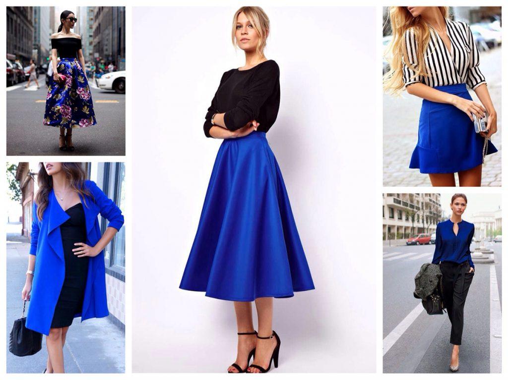 Сочетание синего и черного в одежде