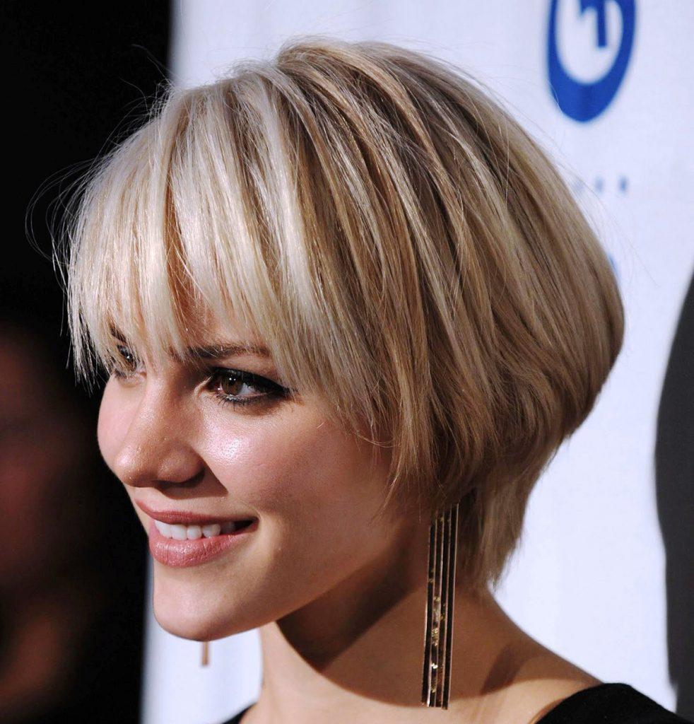 Короткая стрижка на тонкие мелированные волосы