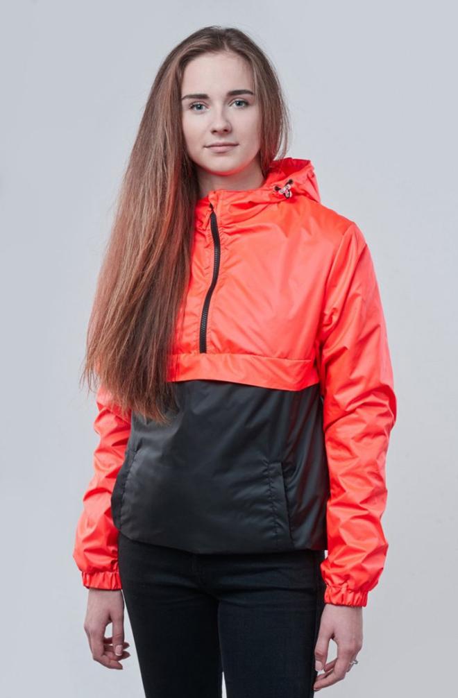Женский красно-черный анорак