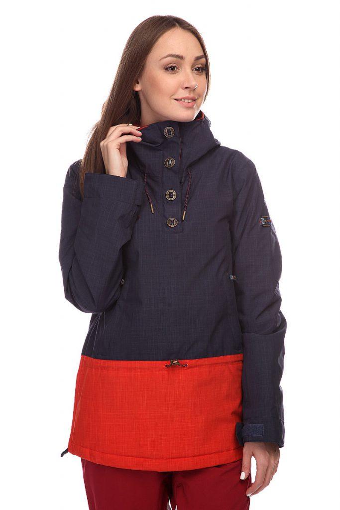 Красно-синий женский анорак