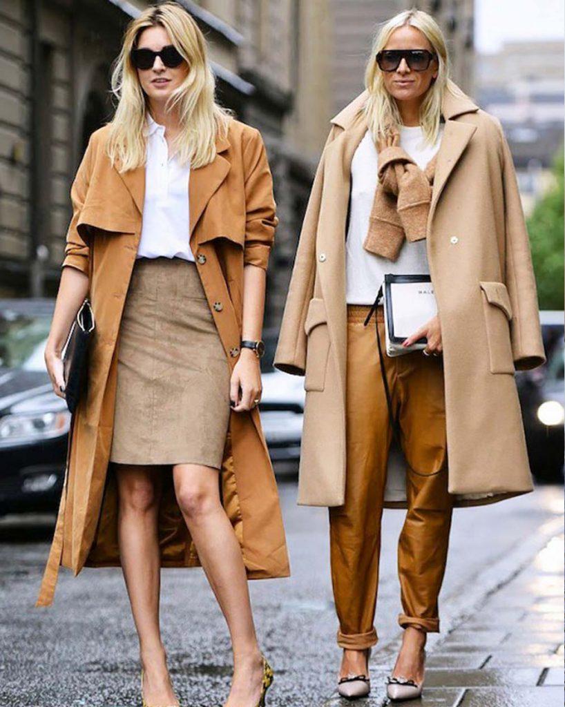 Бежевый и коричневый цвета в одежде