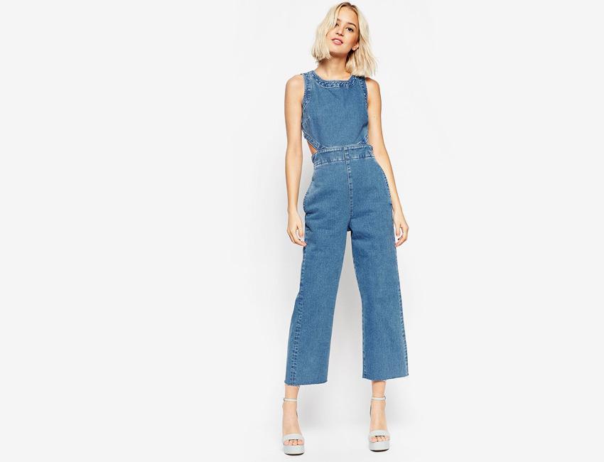 С чем носить женский джинсовый комбинезон (45 фото)
