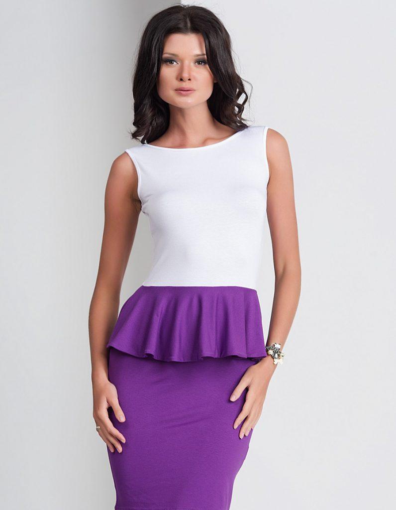 Фиолетовый и белый цвета в одежде