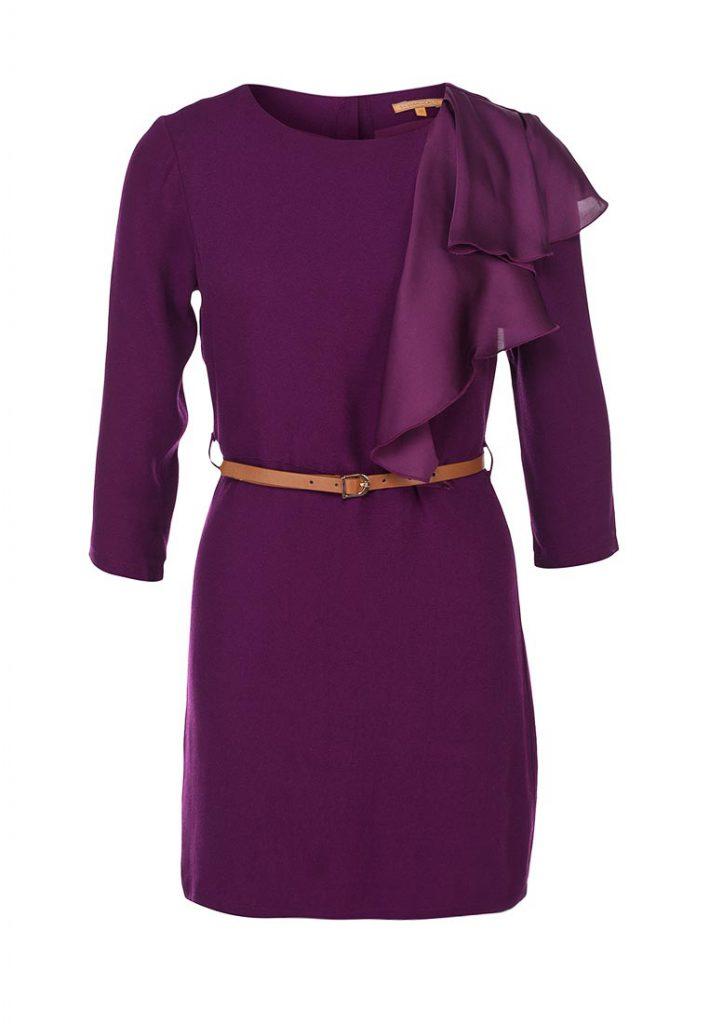 Темно-фиолетовое платье для работы