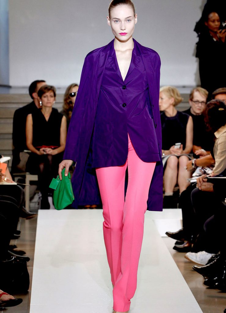 Фиолетовый и розовый цвета в одежде