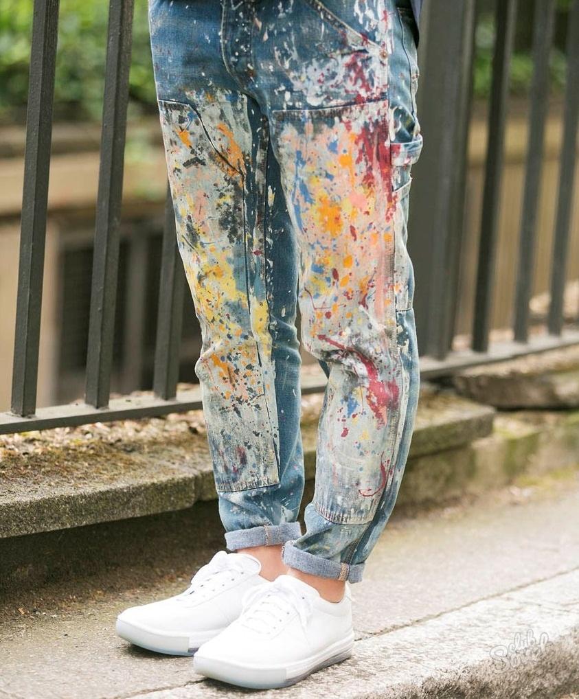 Покрашенные своими руками джинсы