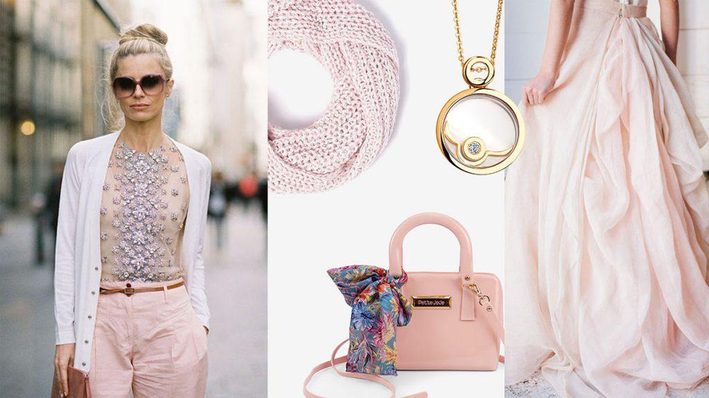 Бежево-розовый цвет в одежде