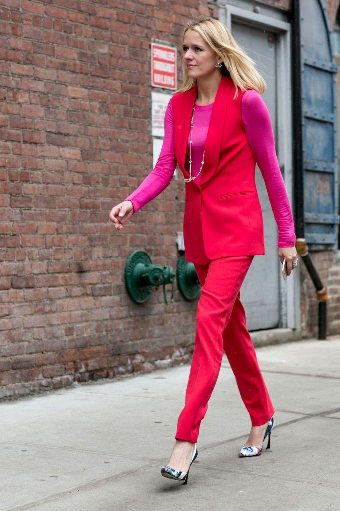 Красный и розовый цвета в одежде