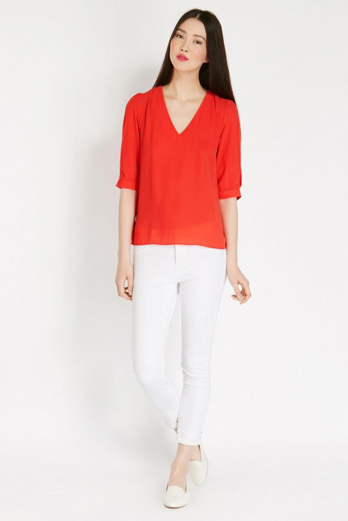 Сочетания белого и красного в одежде