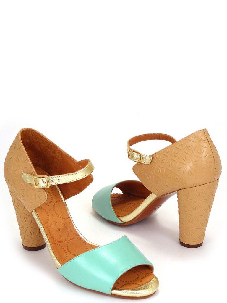 Биюрзово-бежевые туфли для женщин после 50 лет в ретро стиле
