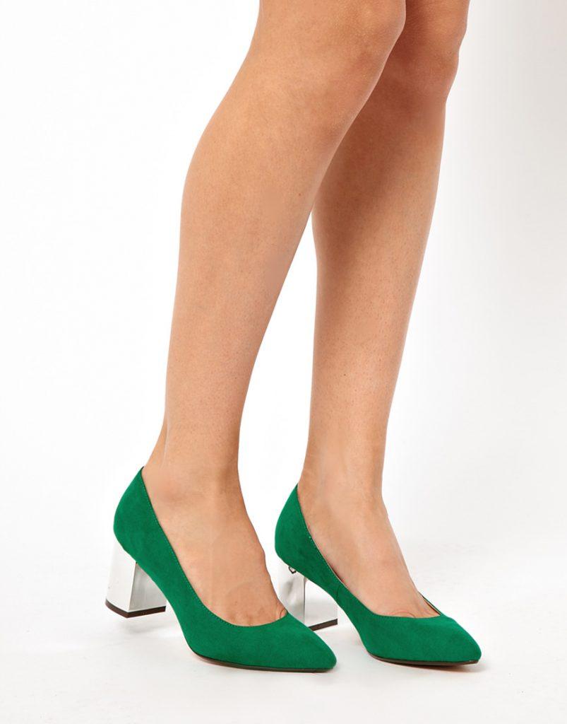 Туфли с каблуком столбик