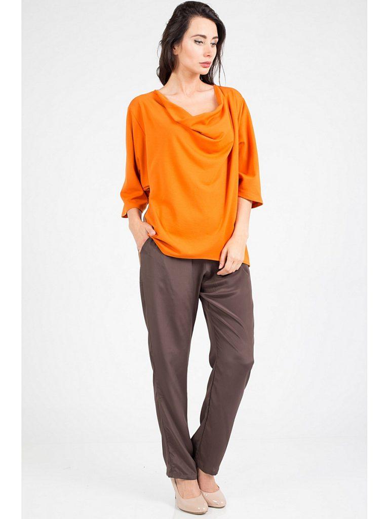 Оранжевый и коричневый цвета в женском образе