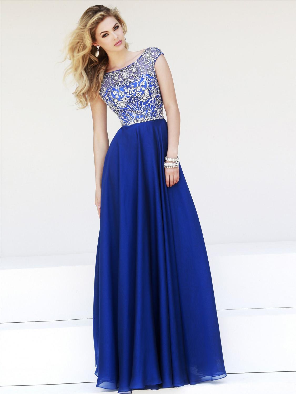 Синие платья для выпускного