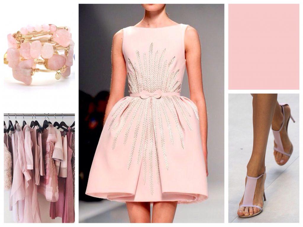 Нежно-розовый цвет в одежде