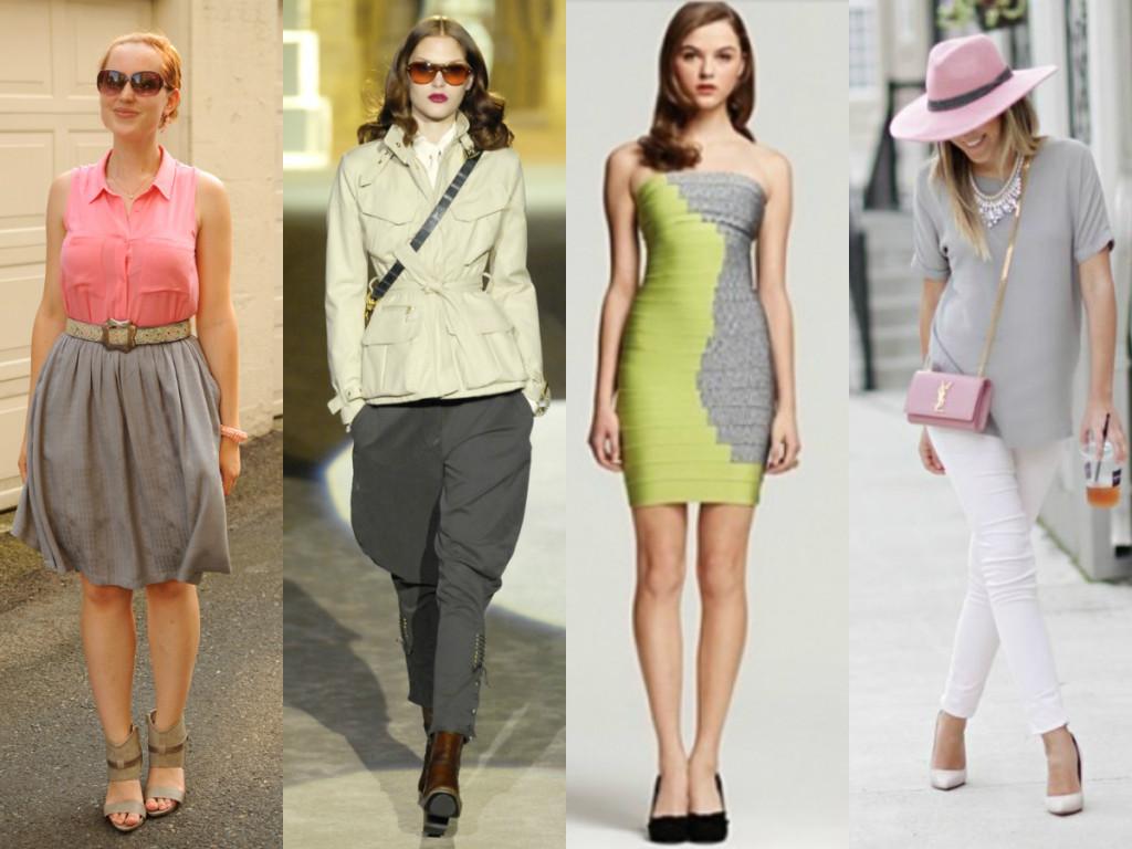С чем сочетается светло-серый цвет в одежде