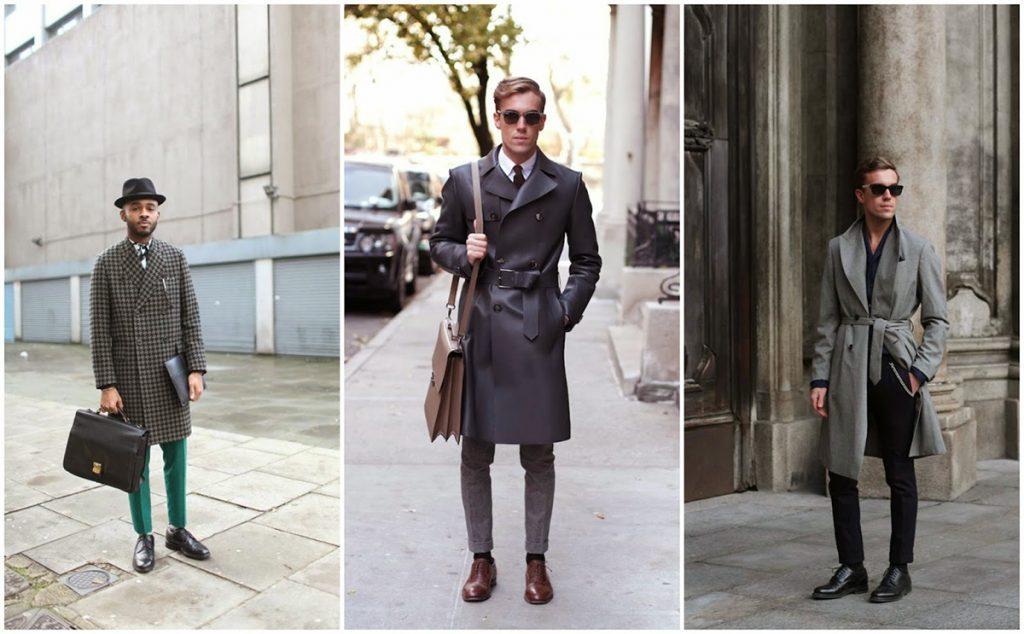 Серые мужские пальто