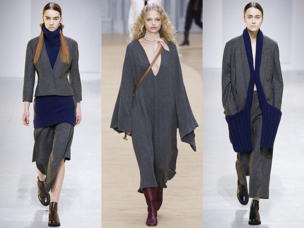 Серый и синий цвета в одежде