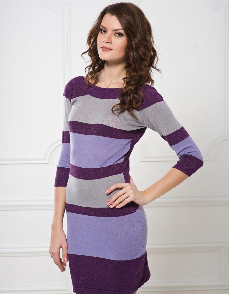 Сиренево-серое платье