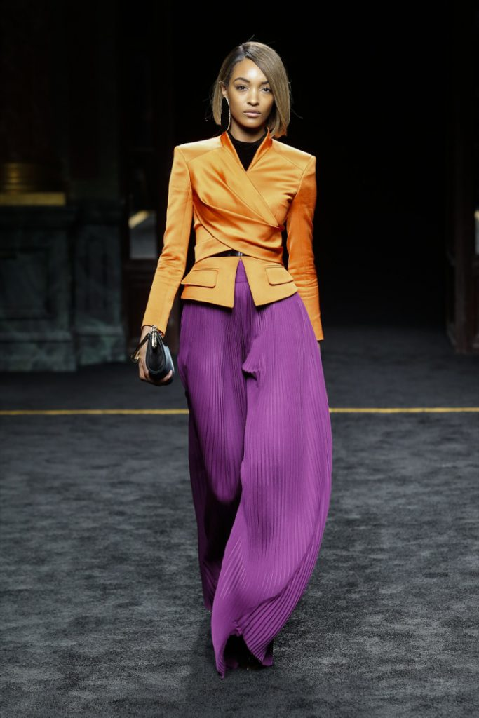 Сиреневый и оранжевый цвета в одежде