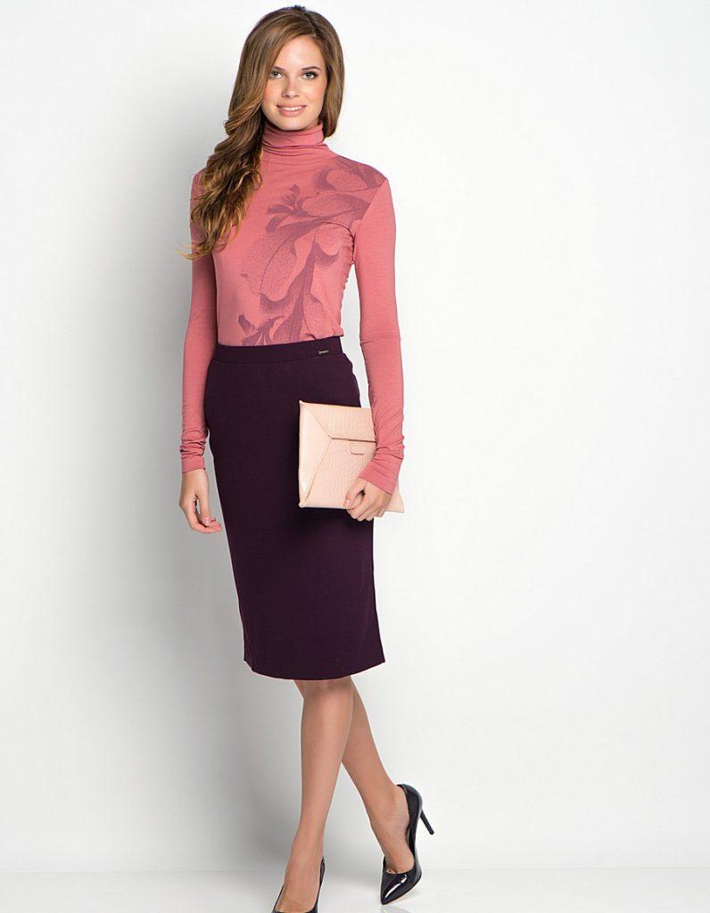 Сливовый и коралловый цвета в одежде