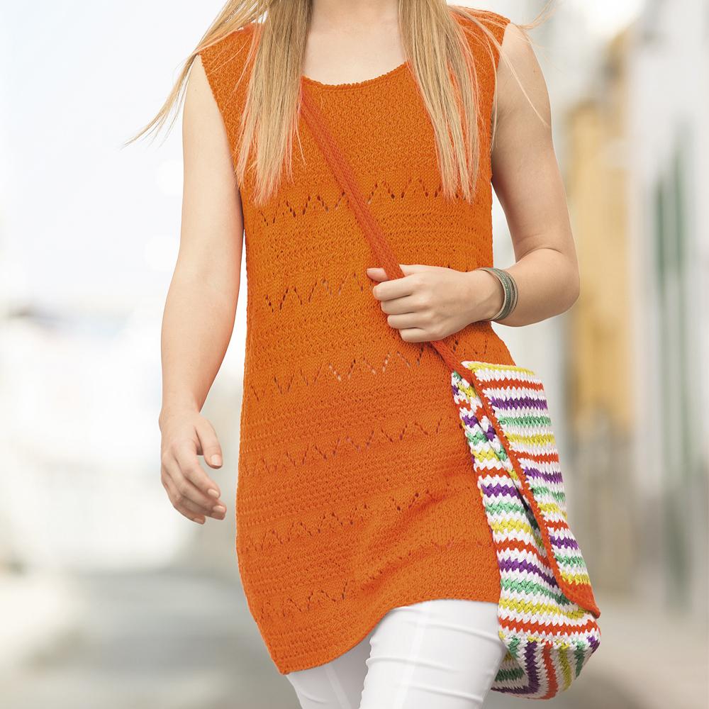Красивая полосатая пляжная сумка