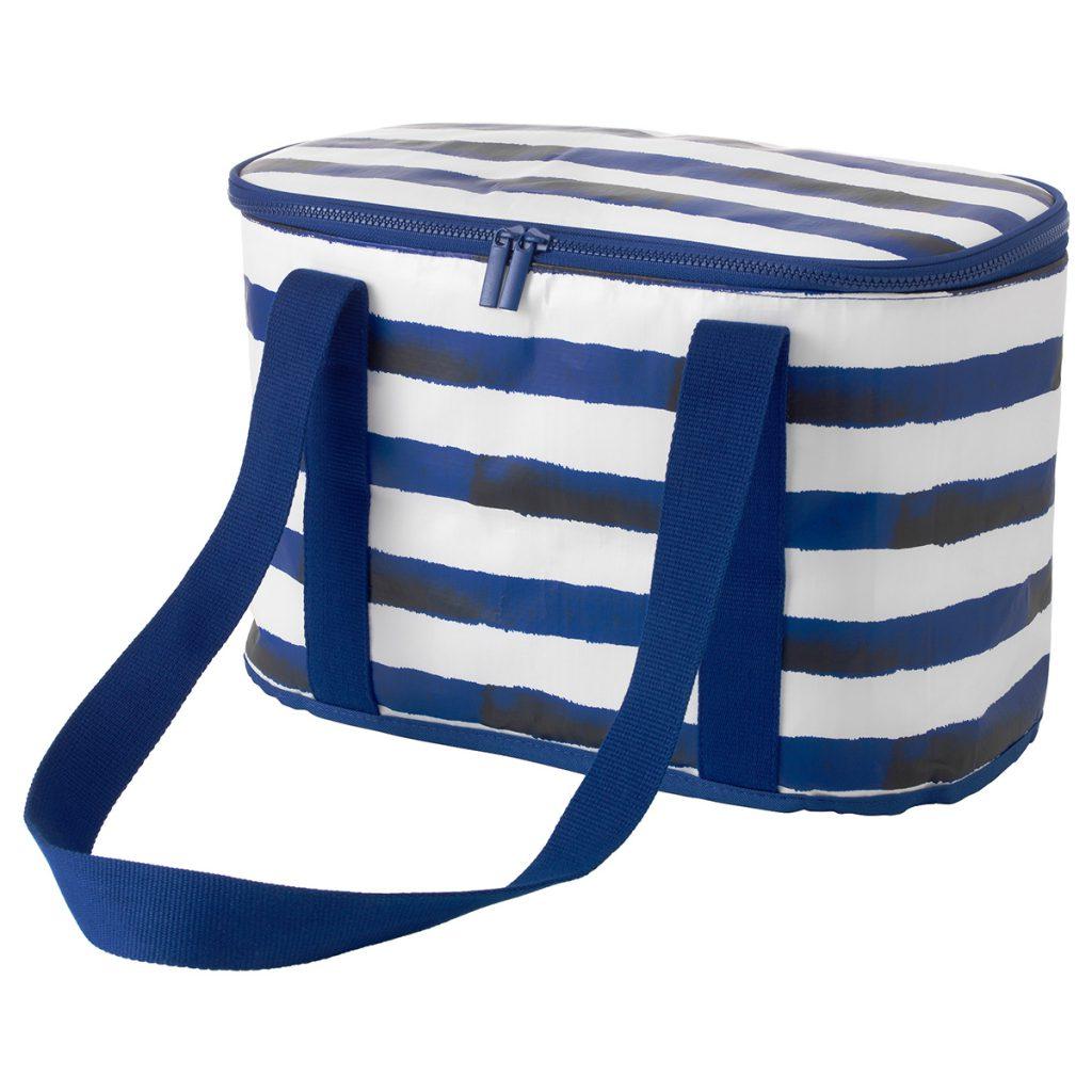 Сине-белая сумка в полоску