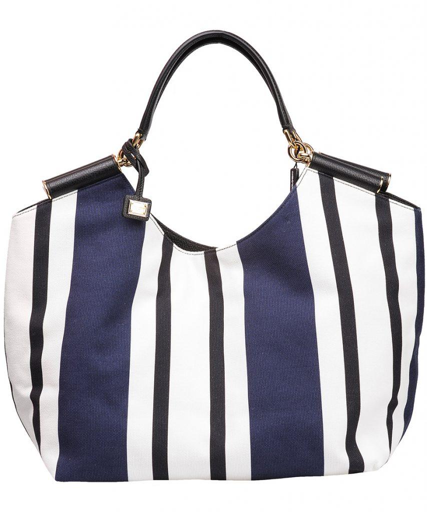 Полосатая модная сумка