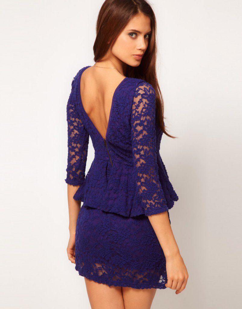 Сине-фиолетовое платье для встречи 2017 года