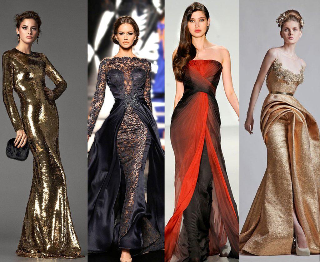 Длинные платья для встречи Нового 2017 года