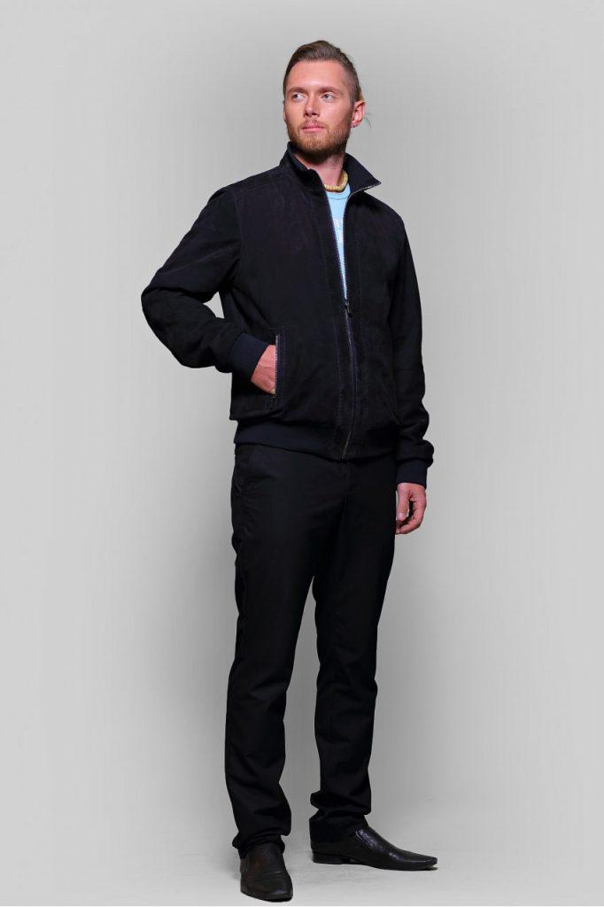 Черная мужская замшевая куртка