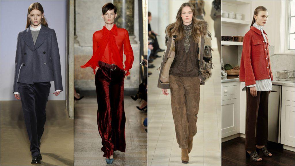 Модные образы с бархатными брюками