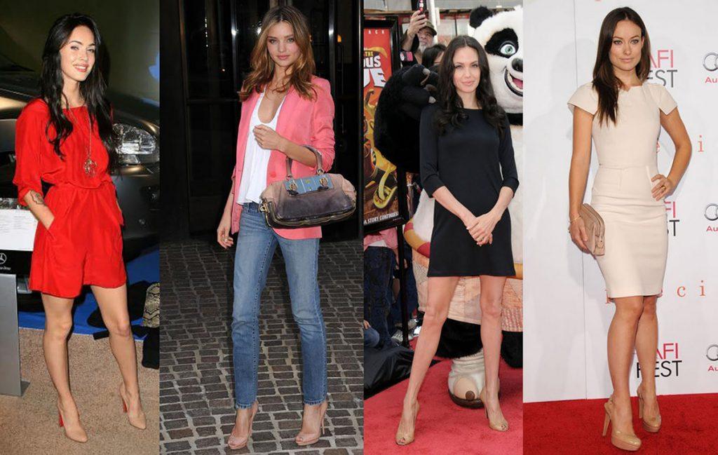 Бежевые туфли с джинсами и платьями