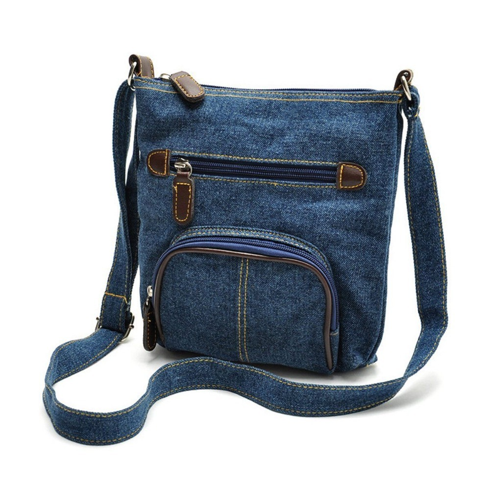 Маленькая джинсовая сумка